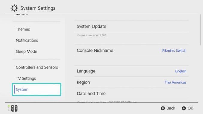 Nintendo Switch Language