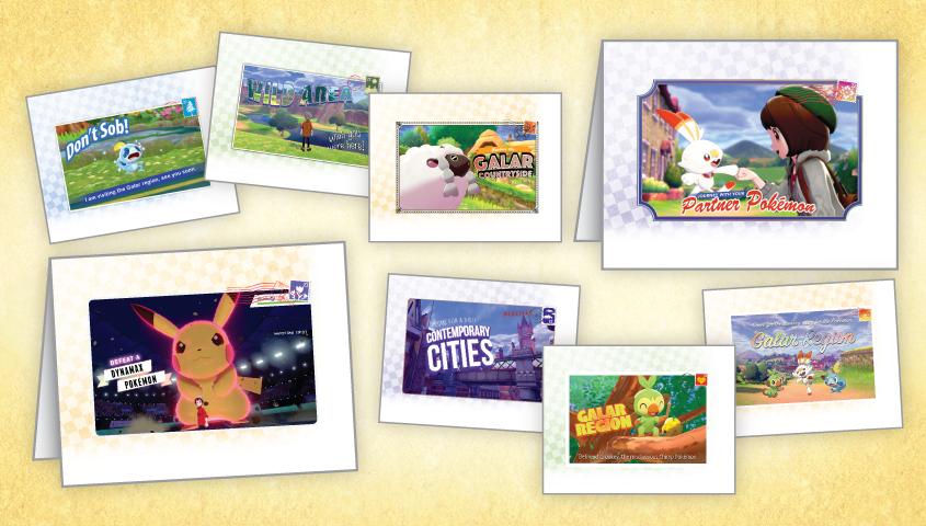 nintendo teilt pokémon schwert  schildgrußkarten zum