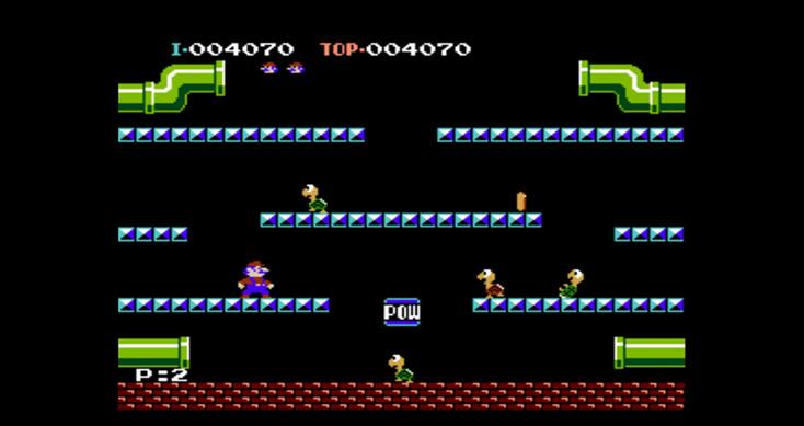 NES Classic Edition Off Screen Mario Bros Footage