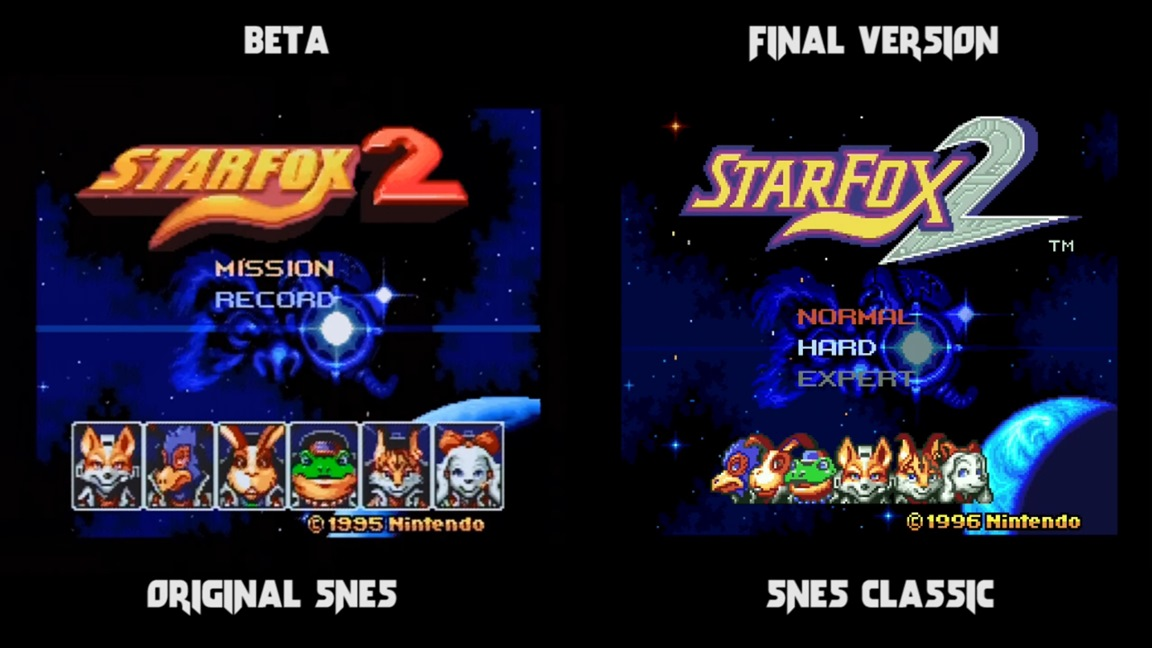 Beta Vs. Final Version - Star Fox 2