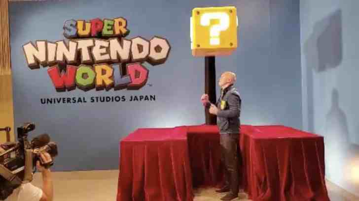 Here's What Happens When You Hit A Question Mark Block At Super Nintendo World 1