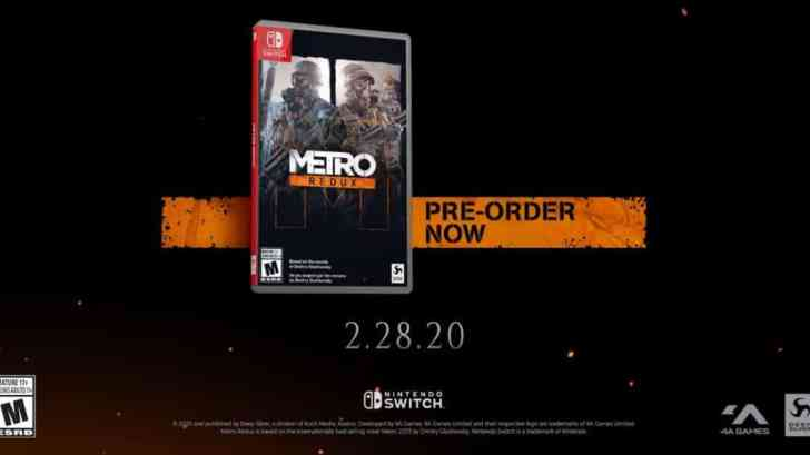 Metro Redux Switch Analysis Reveals It Runs 720p In TV Mode And 480p In Handheld Mode 2