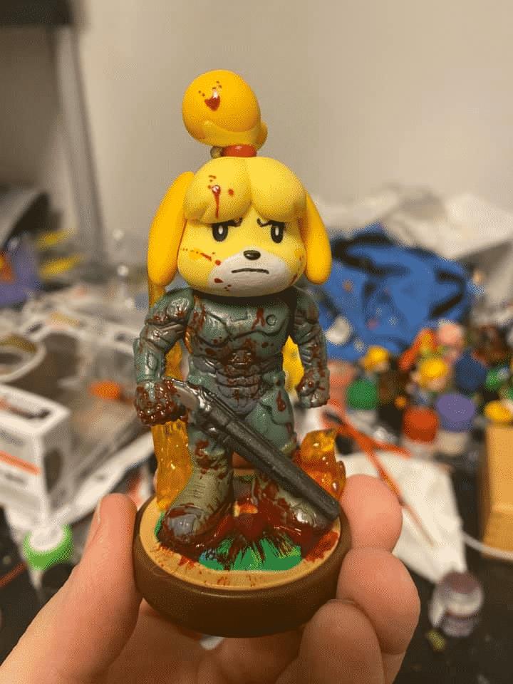 Fan-Art: DOOM Slayer Isabelle Amiibo 4