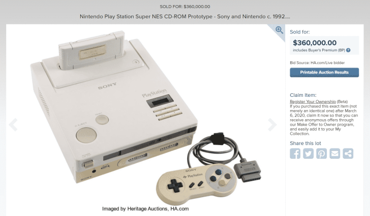 Rare Nintendo PlayStation Prototype Officially Auctioned Off For $360K 2