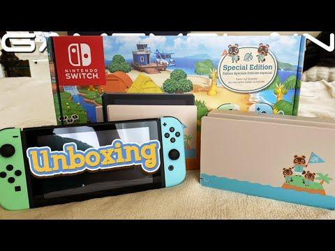 First Unboxing Video For Nintendo Switch Animal Crossing: New Horizons Edition 1