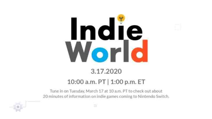 Indie World Showcase Coming March 17 1