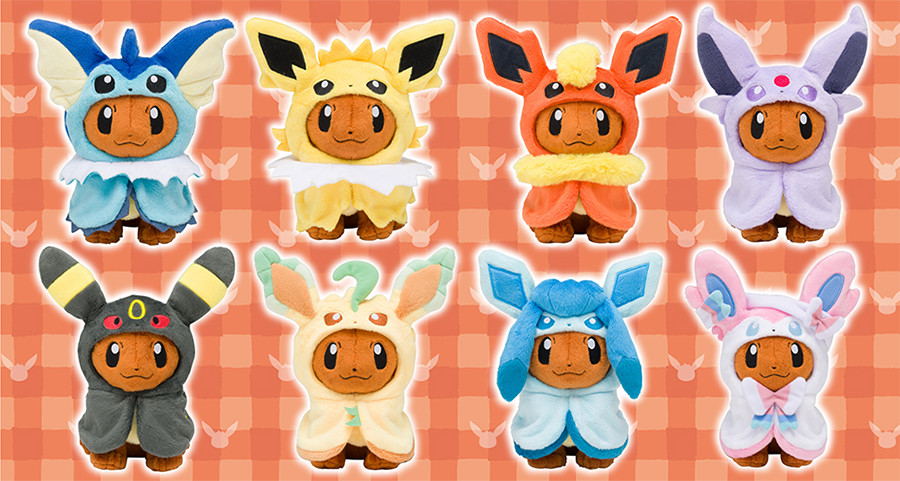 Eevee Poncho Evolution Series Merch Hitting Pokemon Center In October