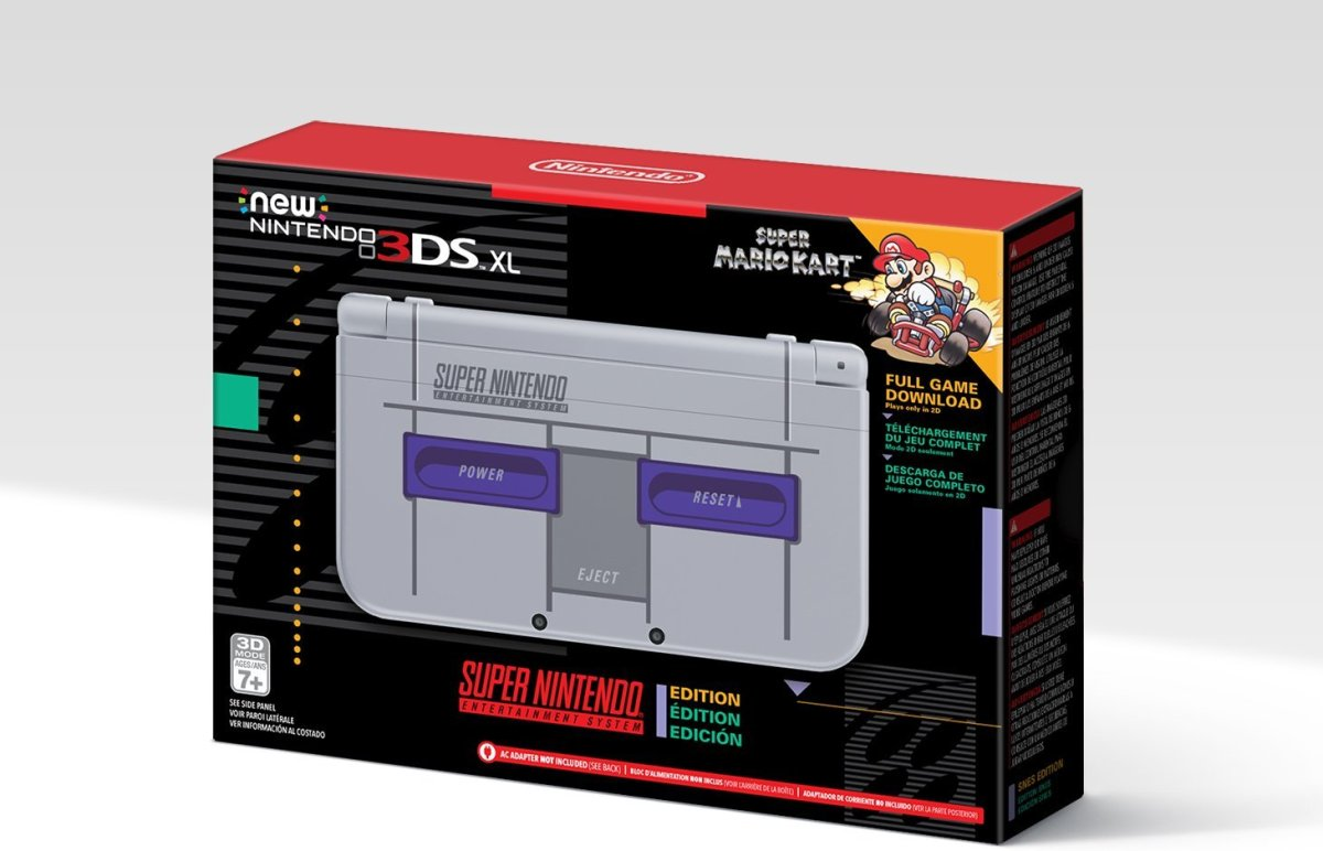 Super NES Edition New Nintendo 3DS XL Heading To North America