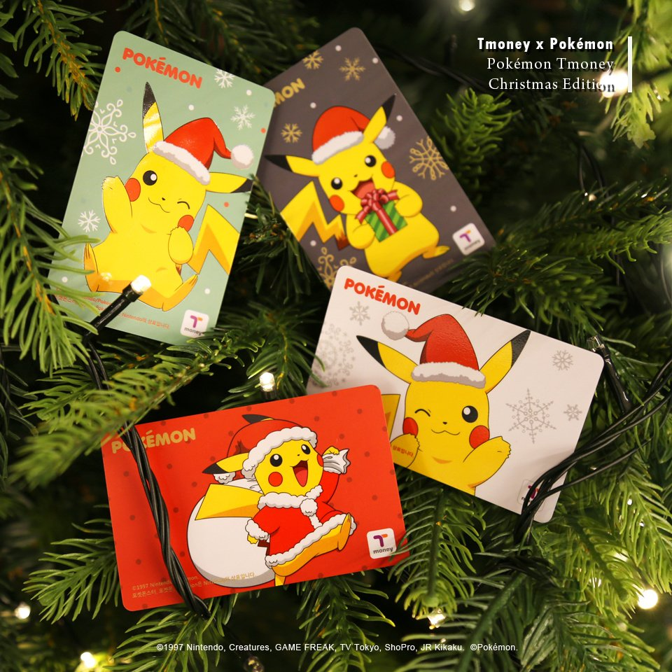 Pokemon Christmas T Money Cards Out In South Korea