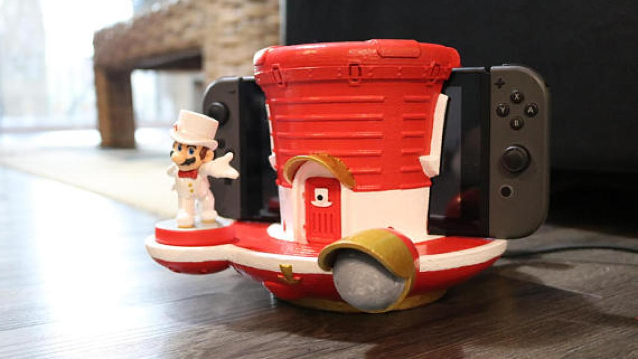 This Super Mario Odyssey Ship Is A Dock For Your Switch Nintendosoup