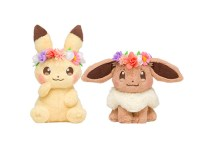 Pikachu and Eevee's Easter Plush