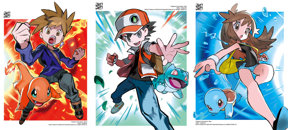 High-Quality Artwork For Red, Blue, And Green Pokemon TCG Cards Released | NintendoSoup
