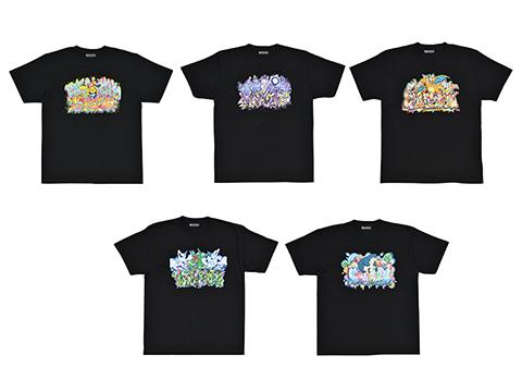 Official Merchandise Pokemon Neon Graffiti Girls T-Shirt