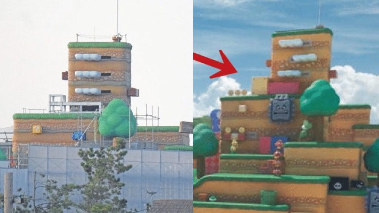 Here S A Comparison Of Super Nintendo World S Construction And Latest Artwork Nintendosoup