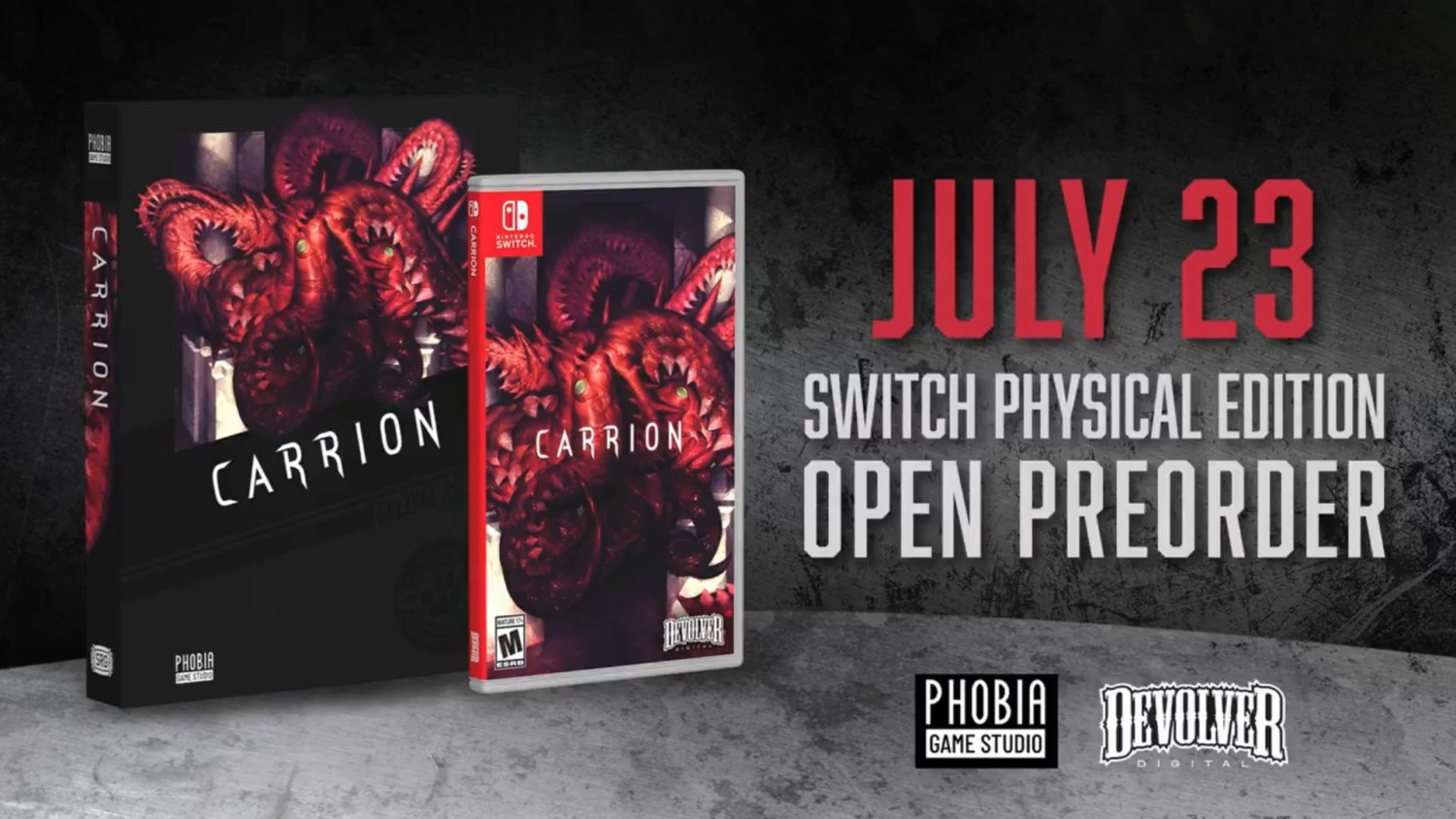 Carrion Switch Physical Edition By Special Reserve Games Confirmed Pre Orders Open July 23 Nintendosoup