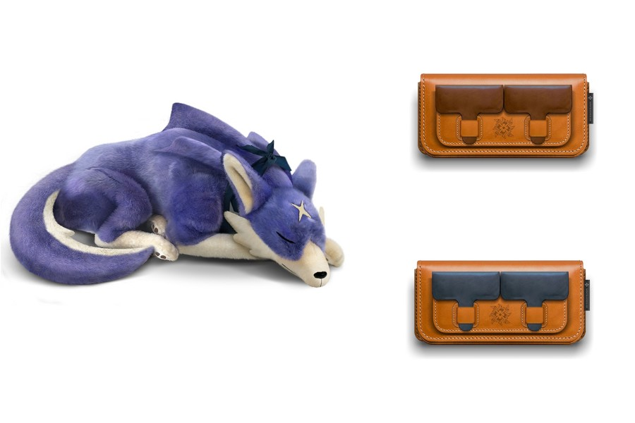 Monster Hunter Rise Palamute Big Plush And Real Leather Switch Cases Up For Pre-Order | NintendoSoup