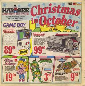 Kay-Bee Toys Ad | October 8-15 1989-1