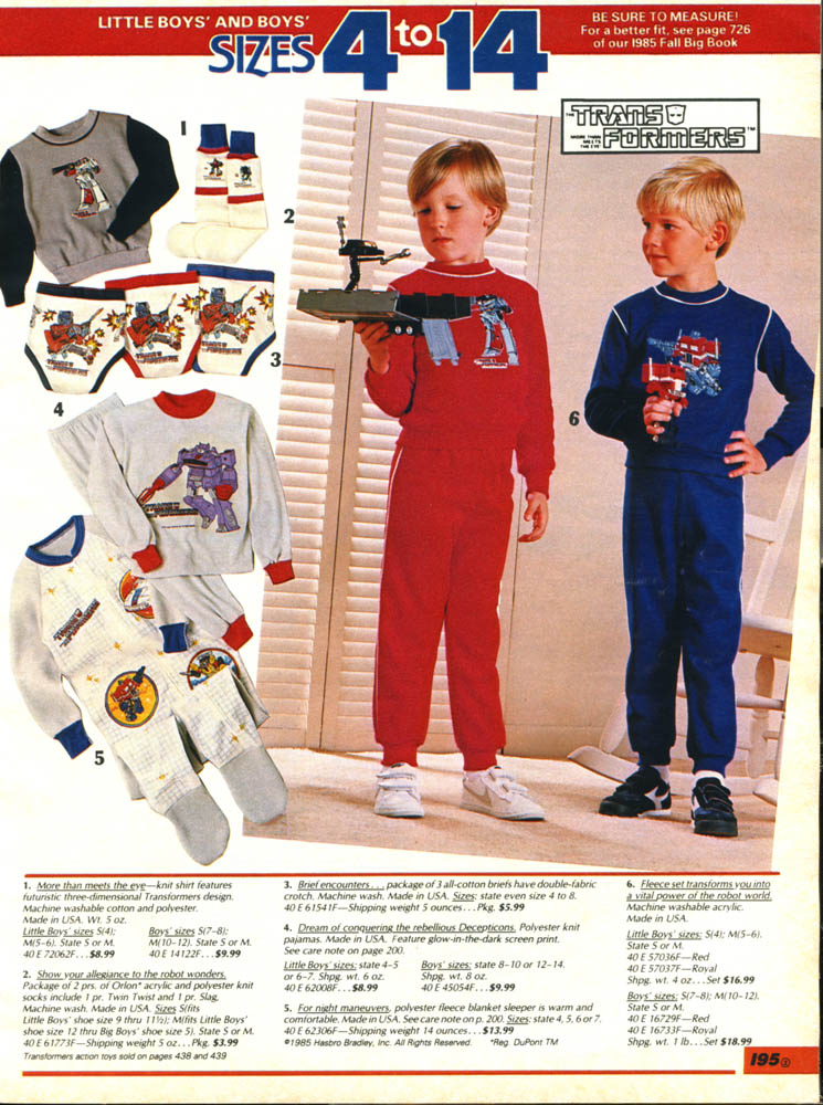 Sears-1985 Transformerspajamas