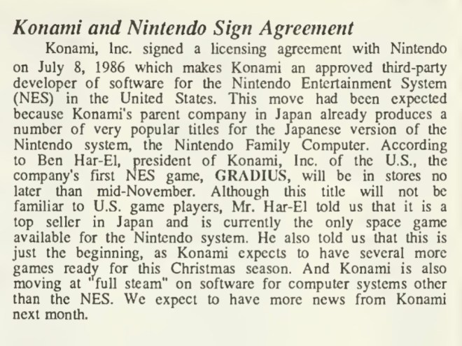 07-08-86-Konami Signs As 3rd Party - Computer Entertainer