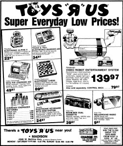 NES Ad - Toys R Us - 07-17-1986 - Wisconsin State Journal - Credit Frank Cifaldi
