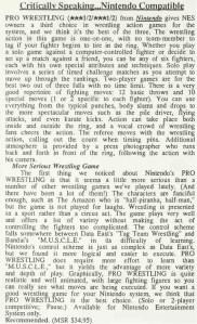 Pro Wrestling Review - Computer Entertainer - April 1987
