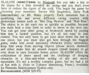 Slalom Review - Computer Entertainer - April 1987