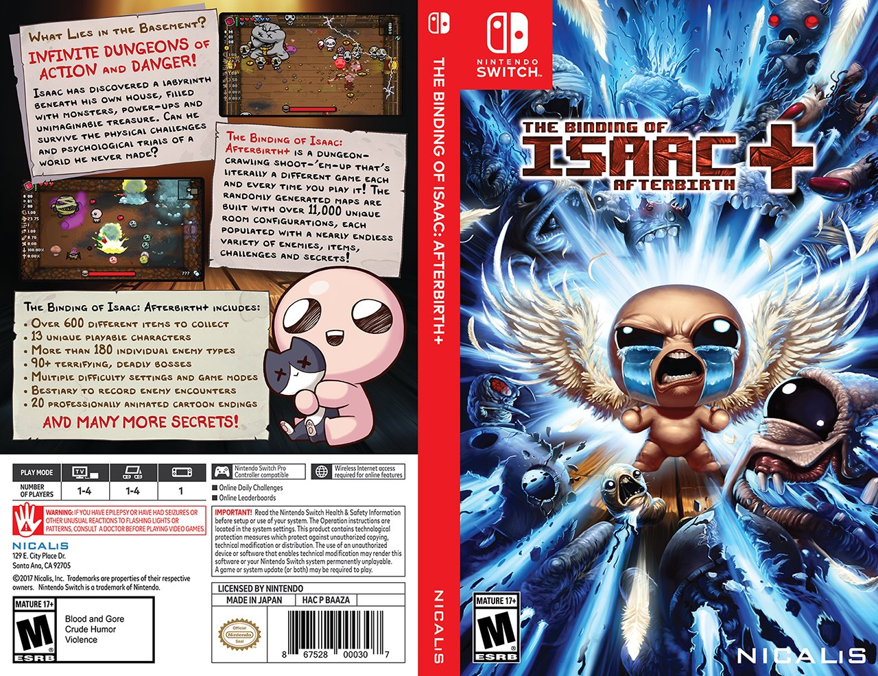 picture relating to Printable Video Game Covers called The Binding Of Isaac Afterbirth+ Starting to be Instant Print