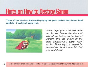 The Legend of Zelda Instruction Booklet - 5