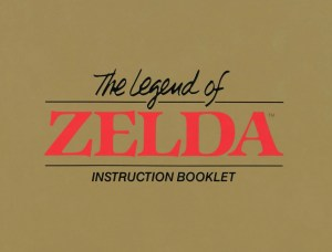 The Legend of Zelda Instruction Booklet - Cover