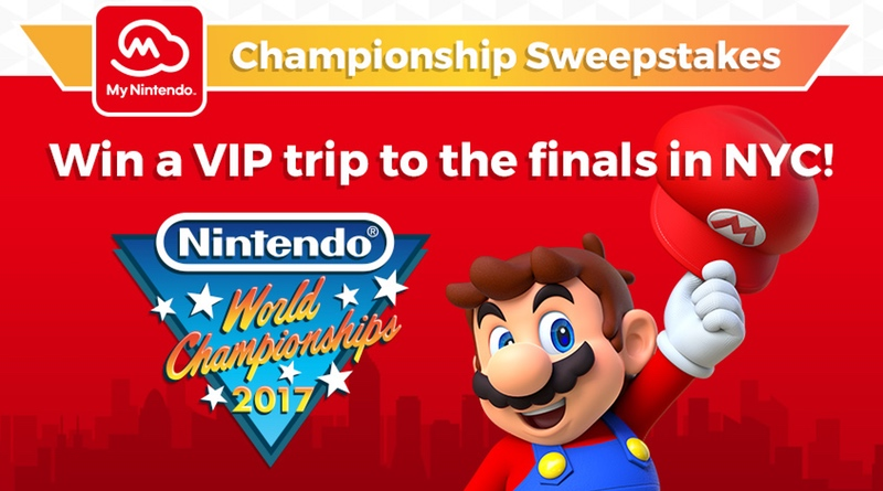 nintendo sweepstakes my nintendo world chionships 2017 sweepstakes 3581