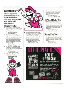 Nintendo Fun Club News - Fall 1987 - p9