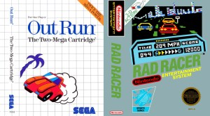 Rad Racer & Out Run Reviewed By Ed Semrad