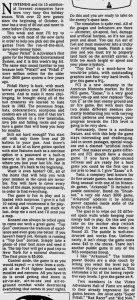 Ed Semrad - NES Reviews - Milwaukee Journal - 12-19-87
