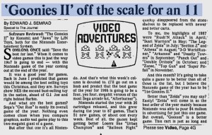 Goonies II - Jaws Review - Ed Semrad - Milwauke Journal - 12-26-87-1