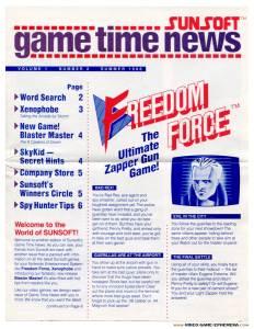 Sunsoft Game Time News | Summer 1988 - Pg 1