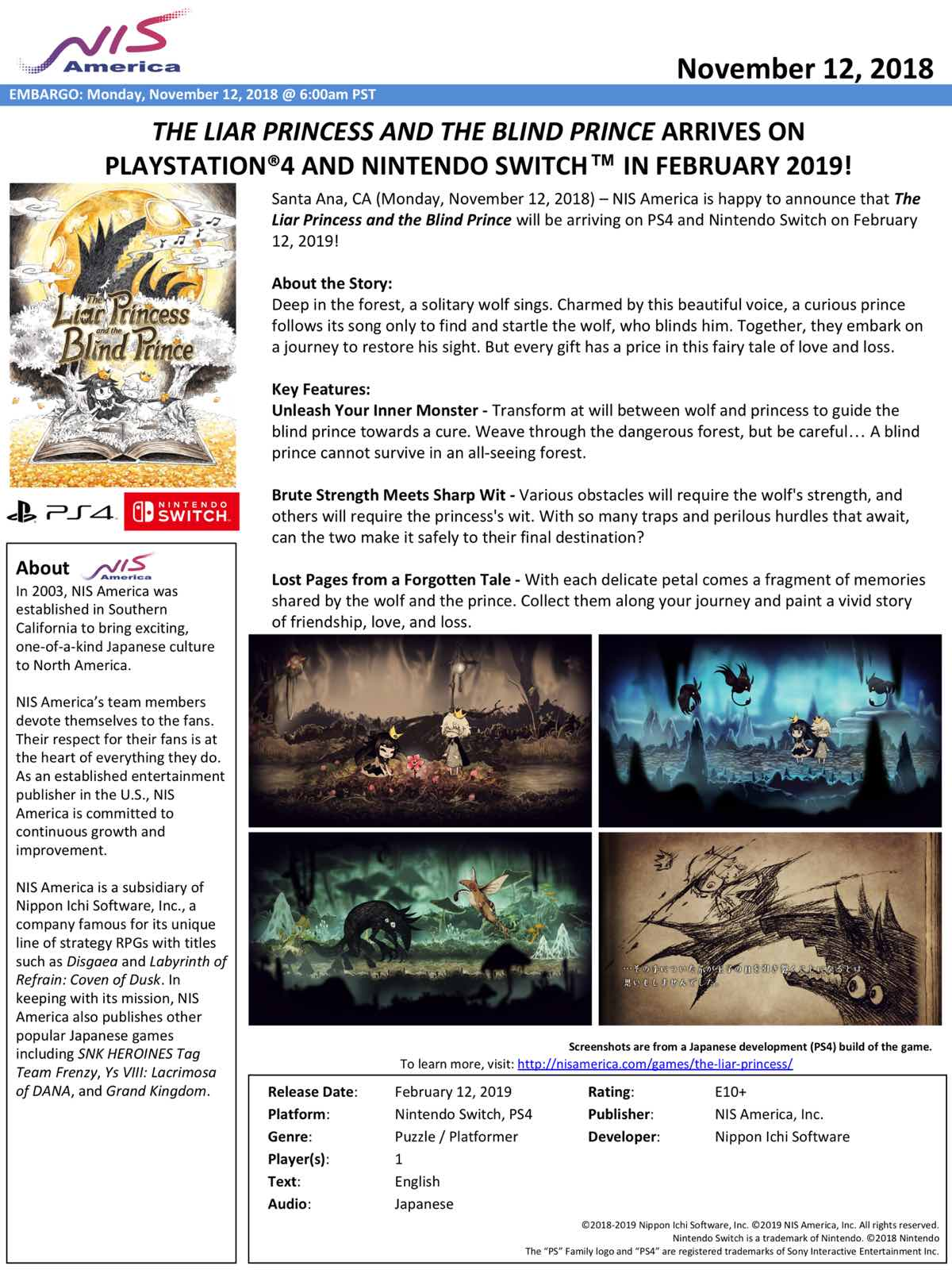 The Liar Princess And The Blind Prince Releasing On February
