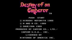 Destiny Of An Emperor (NES) Game Hub
