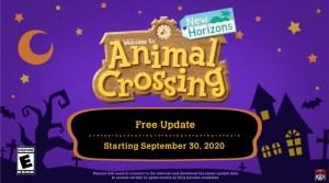 Animal Crossing: New Horizons Fall Update Arrives September 30