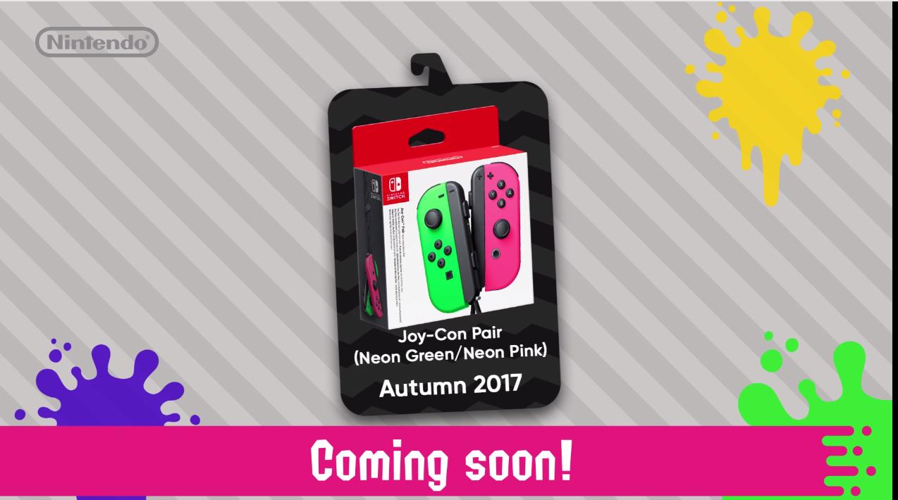 Nintendo UK Announces Splatoon 2 Joy Cons And Accessories