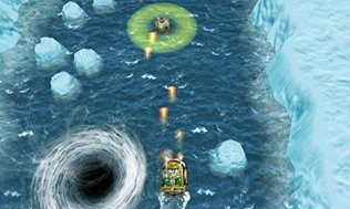 A top down mini game in Sonic Boom: Fire & Ice for the Nintendo 3DS