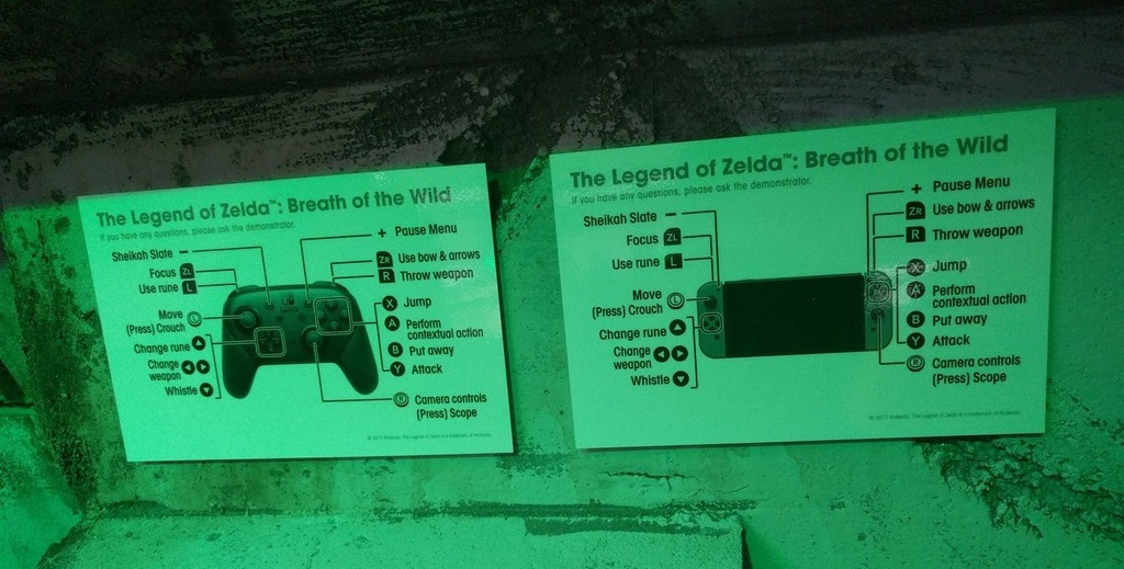 The Legend Of Zelda Breath Of The Wild Controls Revealed