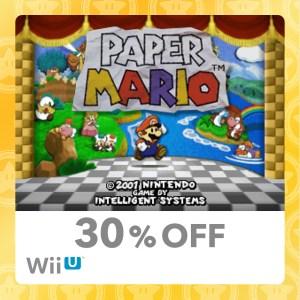 30% Discount on the original Paper Mario
