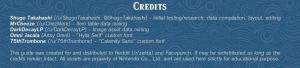 amiibo item guide credits