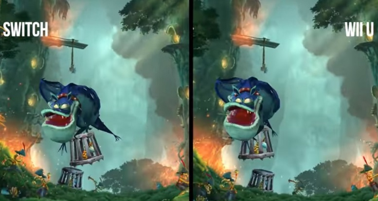 Switch vs Wii U graphics Rayman Legends comparison