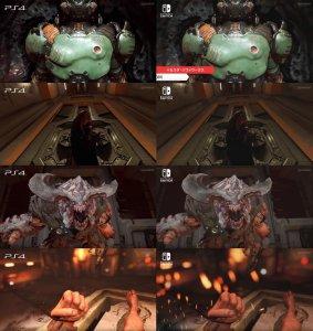graphics comparison Doom Switch & PS4