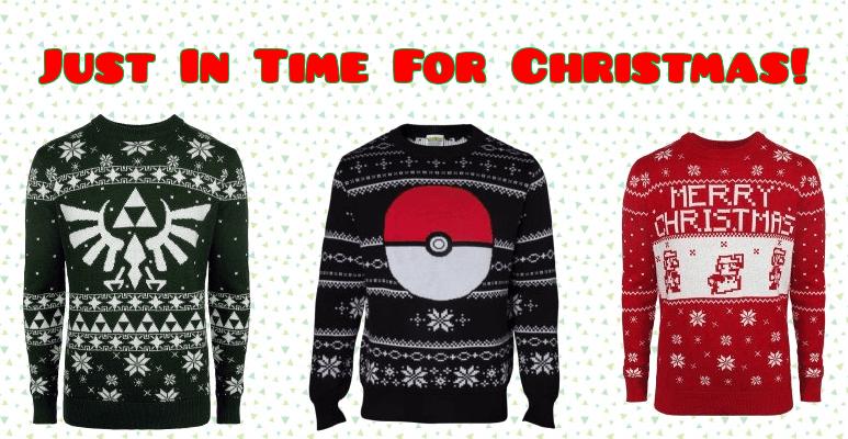 New 2017 Nintendo Christmas Sweaters