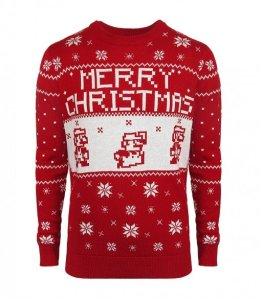 super mario christmas sweater
