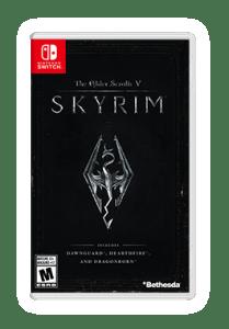 Nintendo Switch Skyrim Box Art