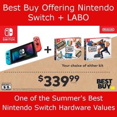 Best Buy Offering Nintendo Switch + LABO Bundle