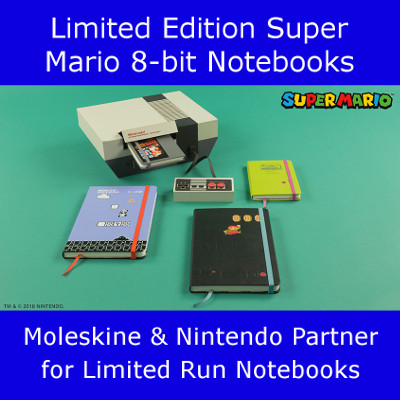 Super Mario Notebooks by Moleskine